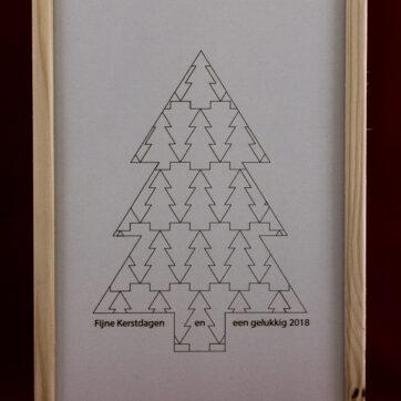 Wijnkistje Kerstboompjes - 2 vaks
